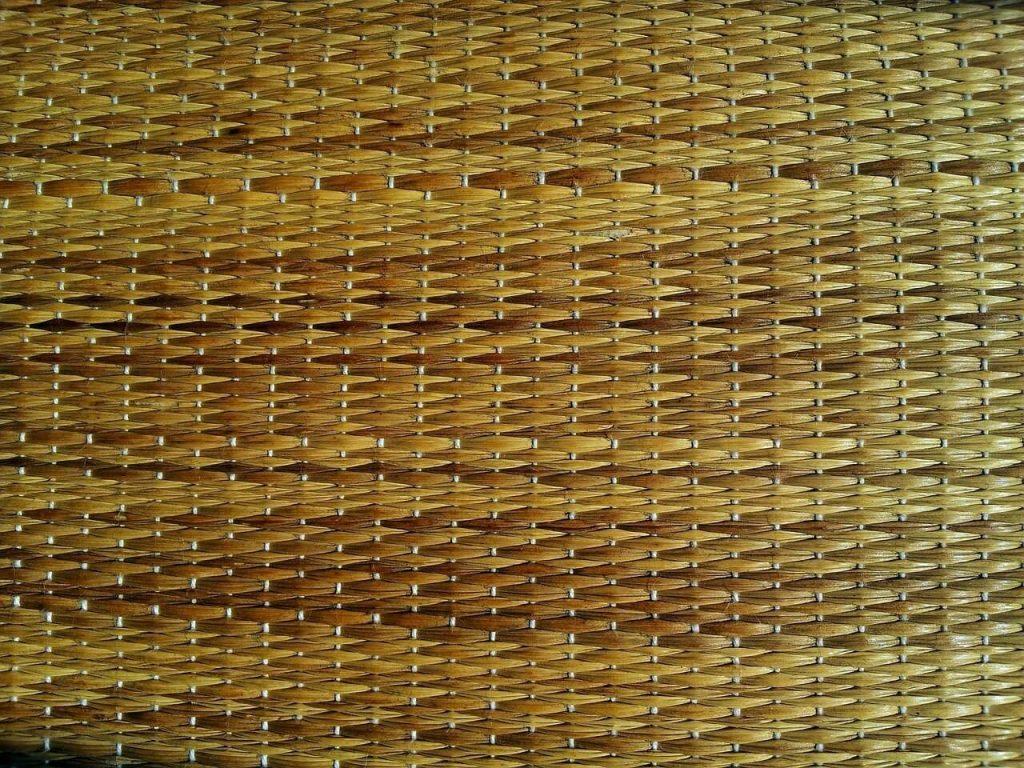 dried grass mat