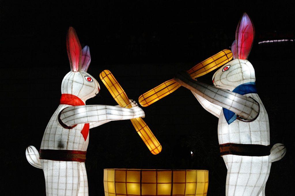 Rabbits across the world symbolism